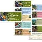 10-panel fundraising (and interest- raising) brochure accordian-folds to a handy mailer size. Client: Urban Greenspaces Institute