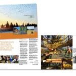 Annual report showcasing the county's scope of projects. Client: Clark County